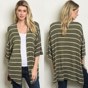 Sweaters - Olive Green Cardigan